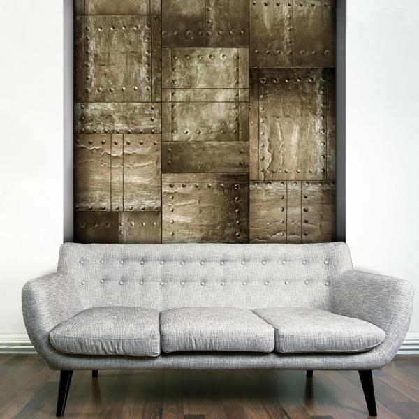 Fototapeta - Mosiężna mozaika (50x1000 cm) A0-WSR10m503-P