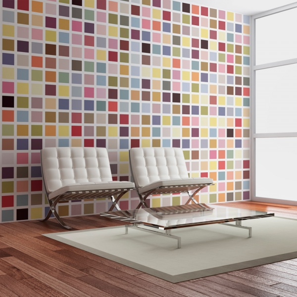 Fototapeta - Mozaika kolorów (200x154 cm) A0-LFTNT0656