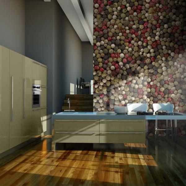 Fototapeta - Mozaika z kolorowego pieprzu (200x154 cm) A0-LFTNT0485