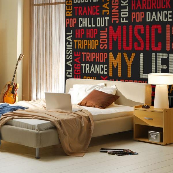Fototapeta - Music is my life (200x154 cm) A0-LFTNT0491