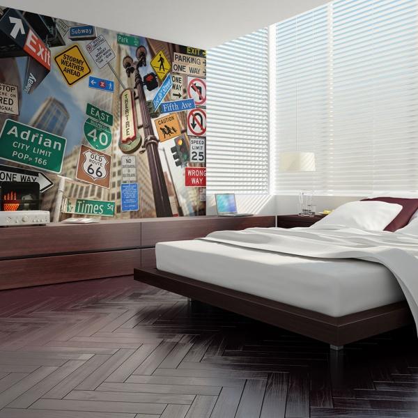 Fototapeta - New York signposts (200x154 cm) A0-LFTNT0713
