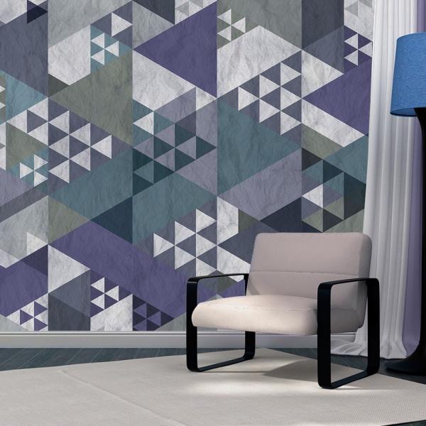 Fototapeta - Niebieski patchwork (50x1000 cm) A0-WSR10m188