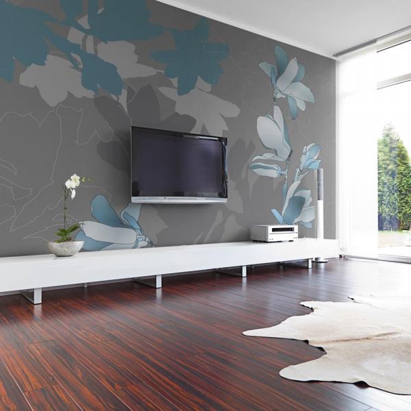 Fototapeta - Niebieskie magnolie (200x154 cm) A0-LFTNT0524