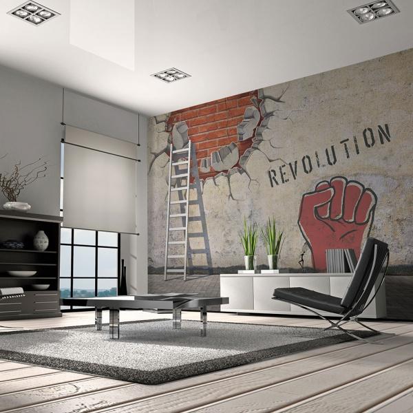Fototapeta - Niewidzialna ręka rewolucji (200x154 cm) A0-LFTNT0616