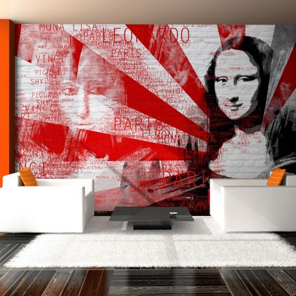 Fototapeta - Nowoczesny kolaż z motywem Mony Lisy (200x154 cm) A0-LFTNT0564