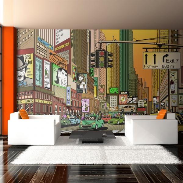 Fototapeta - Nowy Jork - miasto tętniące życiem (550x270 cm) A0-F5TNT0053-P