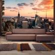 Fototapeta - Nowy Jork: wieżowce i zachód słońca A0-XXLNEW010789