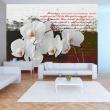 Fototapeta - Pamiętnik i orchidea A0-XXLNEW010122