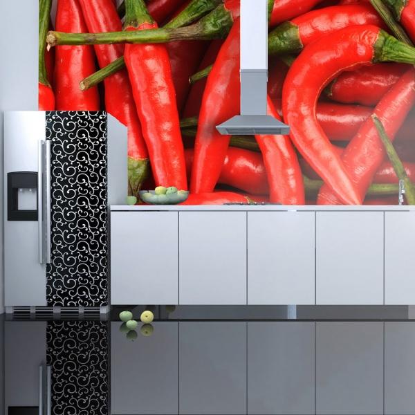 Fototapeta - papryka chili - tło (200x154 cm) A0-LFTNT0873