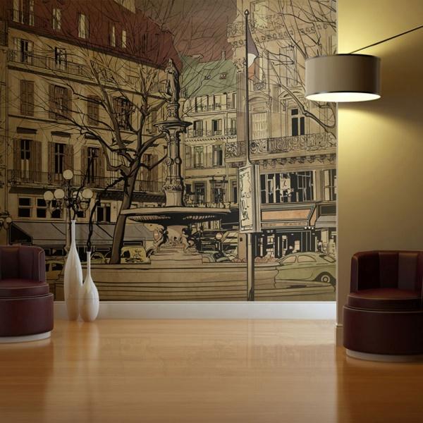 Fototapeta - Parisian fountain (200x154 cm) A0-LFTNT0693