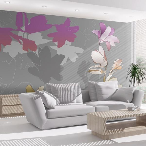 Fototapeta - Pastelowe magnolie (200x154 cm) A0-LFTNT0551