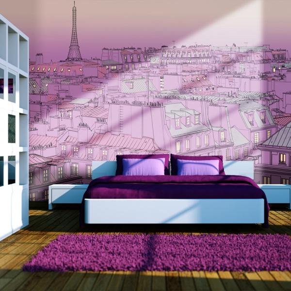 Fototapeta - Piątkowy wieczór w Paryżu (200x154 cm) A0-LFTNT0704