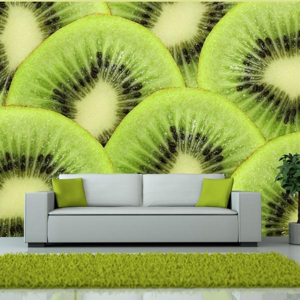 Fototapeta - Plasterki kiwi (200x154 cm) A0-LFTNT0867