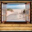 Fototapeta - Plaża za oknem A0-XXLNEW010910