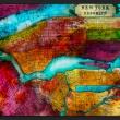 Fototapeta - Północna część Nowego Jorku - mapa A0-XXLNEW010502