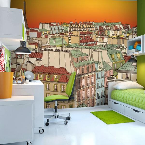Fototapeta - Poranna kawa w Paryżu (200x154 cm) A0-LFTNT0709