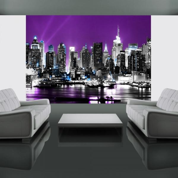 Fototapeta - Purpurowy Nowy Jork (200x154 cm) A0-LFTNT0668