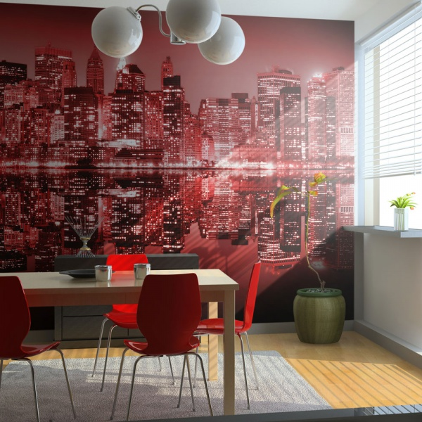 Fototapeta - Red-hot NYC (200x154 cm) A0-LFTNT0723