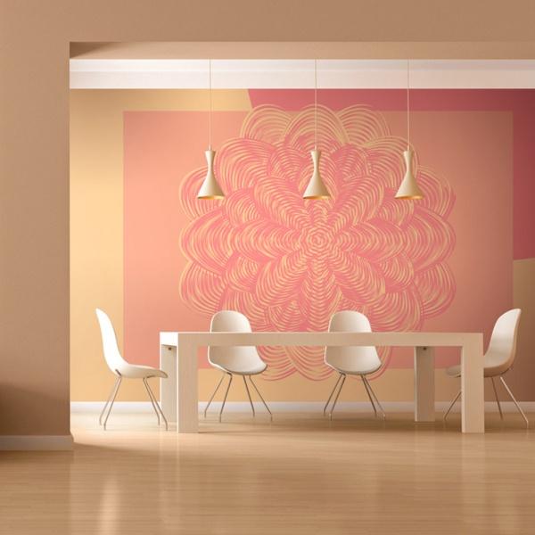 Fototapeta - Różowy ornament (200x154 cm) A0-LFTNT0556