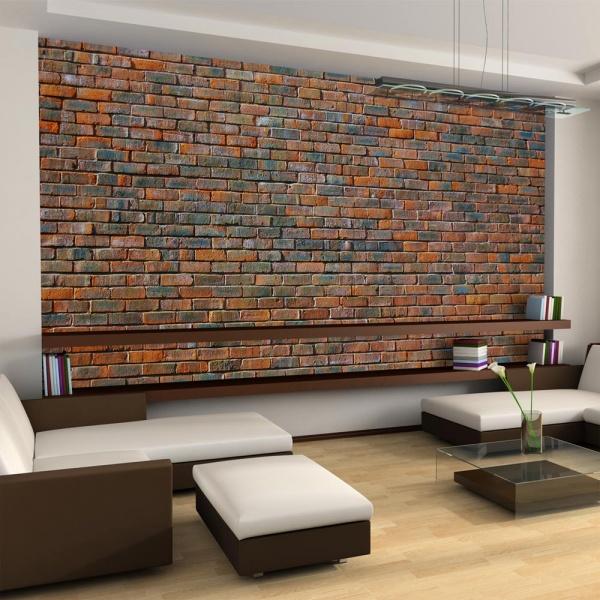 Fototapeta - Ściana z cegły (550x270 cm) A0-F5TNT0022-P