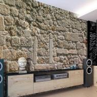 Fototapeta - Ściana z kamieni (300x210 cm)