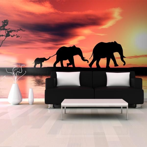 Fototapeta - słonie: rodzina (550x270 cm) A0-F5TNT0003-P