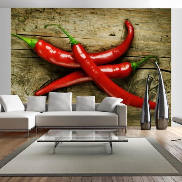 Fototapeta - Spicy chili peppers (200x154 cm) A0-LFTNT0868