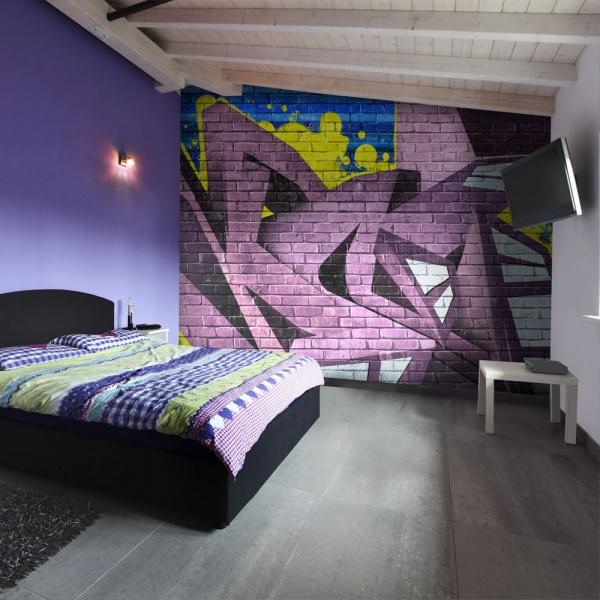 Fototapeta - Street art - graffiti (200x154 cm) A0-LFTNT0643