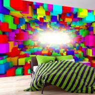 Fototapeta - Światło w geometrii koloru (300x210 cm)