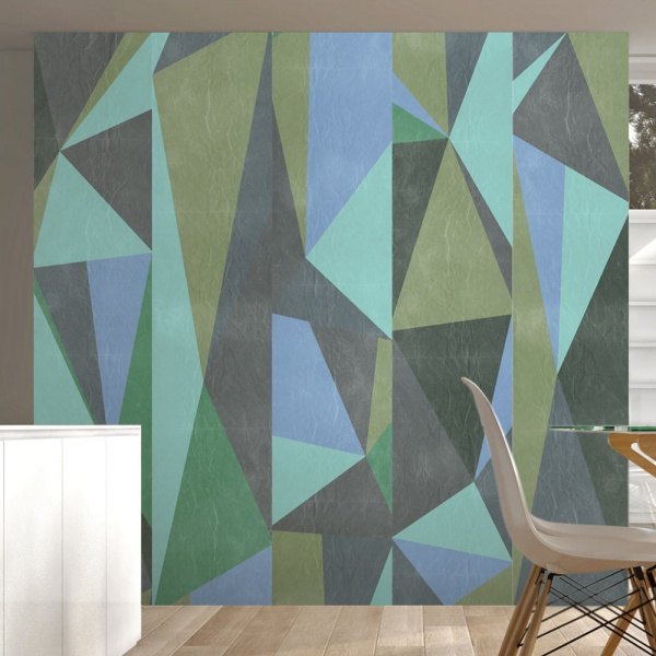 Fototapeta - Szare trójkąty (50x1000 cm) A0-WSR10m196