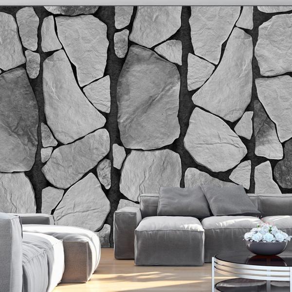 Fototapeta - Szarość skał (50x1000 cm) A0-WSR10m473