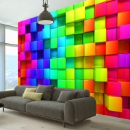 Fototapeta - Sześcian pełen koloru (300x210 cm)