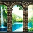Fototapeta - Tajemniczy wodospad A0-XXLNEW010301
