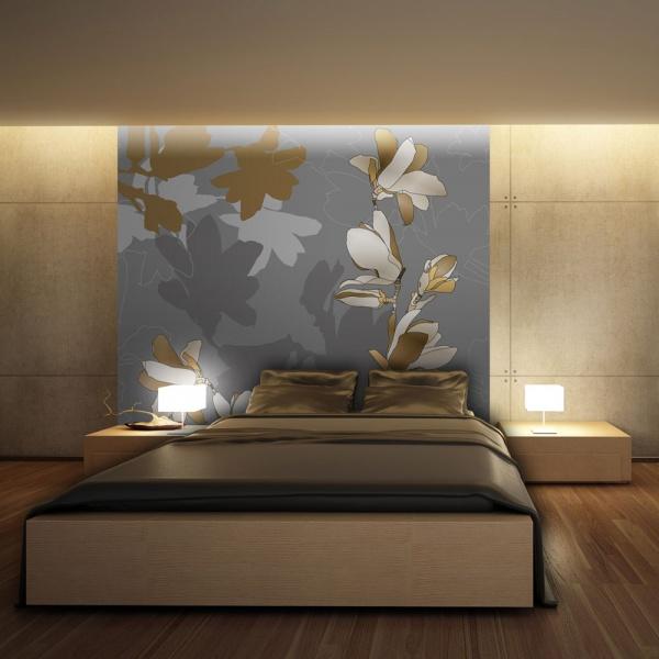 Fototapeta - Tańczące cienie magnolii (200x154 cm) A0-LFTNT0527