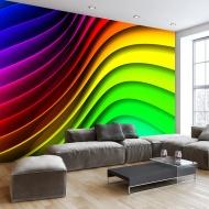 Fototapeta - Tęczowe fale (300x210 cm)