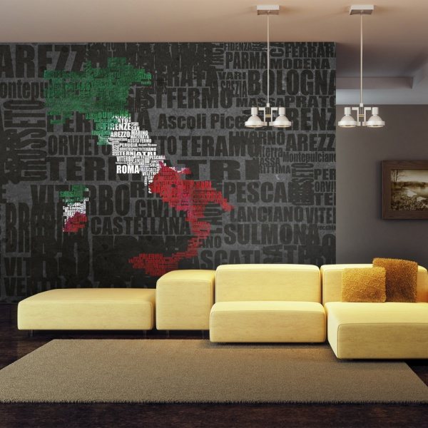 Fototapeta - Text map of Italy (450x270 cm) A0-F4TNT0130-P