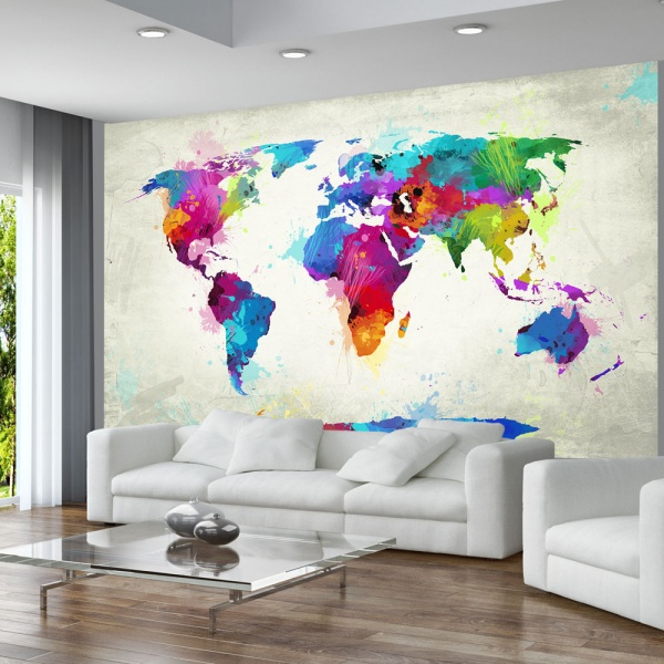 Fototapeta - The map of happiness (450x270 cm) A0-F4TNT0013-P
