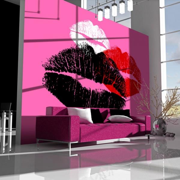 Fototapeta - Trzy pocałunki (200x154 cm) A0-LFTNT0519