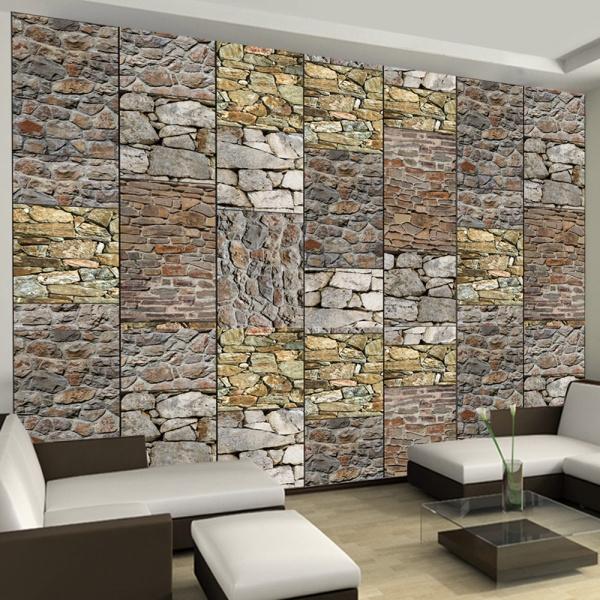 Fototapeta - Układanka z kamieni (50x1000 cm) A0-WSR10m403-P