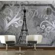 Fototapeta - Vintage Paris - srebrny A0-XXLNEW010409