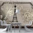Fototapeta - Vintage Paris - złoty A0-XXLNEW010410