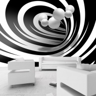 Fototapeta - Zakręceni w bieli i czerni (300x210 cm)