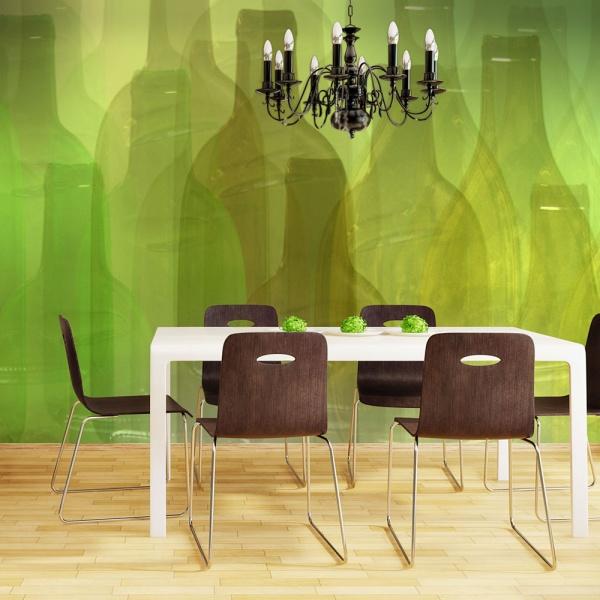 Fototapeta - Zielone butelki (200x154 cm) A0-LFTNT0878