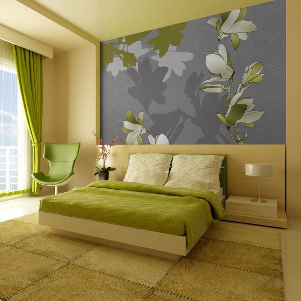 Fototapeta - Zielone magnolie (200x154 cm) A0-LFTNT0552