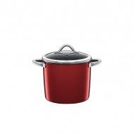 Garnek 8,5l do warzyw z pokrywą Silit Vitaliano Rosso czerwony