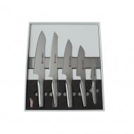 Global NI Zestaw 5 noży + listwa magnetyczna