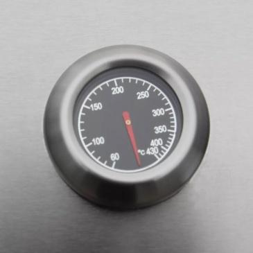 Grill gazowy ze strefą gotowania 6+1, kolor czarno-srebrny