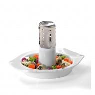 Grill porcelanowy do kurczaka i warzyw 21,5x16cm Gefu Superb 15440 biały