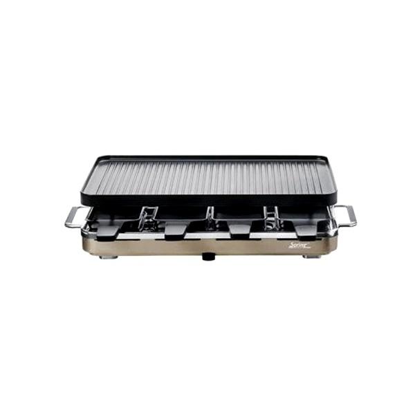 Grill Raclette 8 z dwustronną, powlekaną, aluminiową płytą firmy SPRING FRS0066