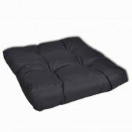 Grubo wyściełana poduszka na siedzisko, 50x50x10 cm, szara
